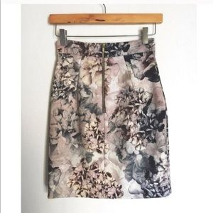Watercolors Pencil Skirt